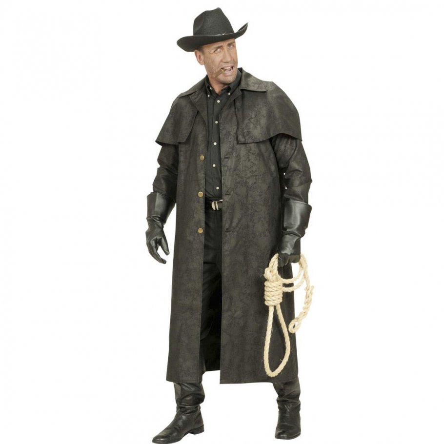 schwarzer cowboy mantel western kost m 45 99. Black Bedroom Furniture Sets. Home Design Ideas
