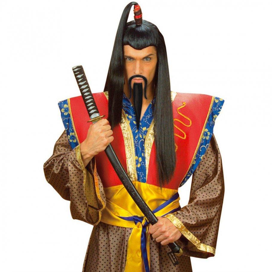 schwarzer samurai chinesen bart zum ankleben 3 99. Black Bedroom Furniture Sets. Home Design Ideas