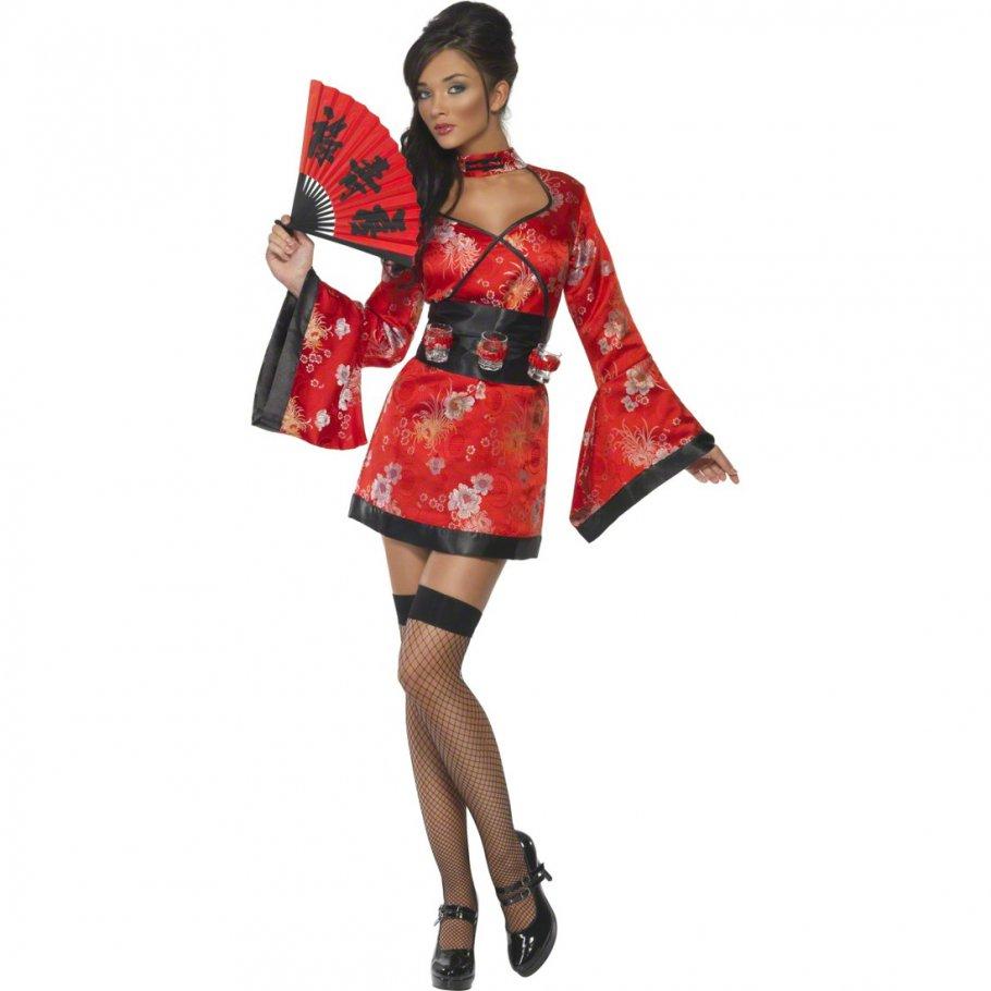 sexy geisha kost m chinesin damenkost m kimono japanerin damen outfit asiatische verkleidung. Black Bedroom Furniture Sets. Home Design Ideas