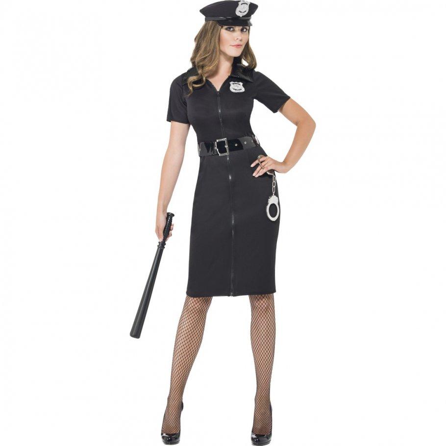 sexy polizistin kost m polizei uniform damen damenkleid police cop damenkost m bleistiftkleid. Black Bedroom Furniture Sets. Home Design Ideas