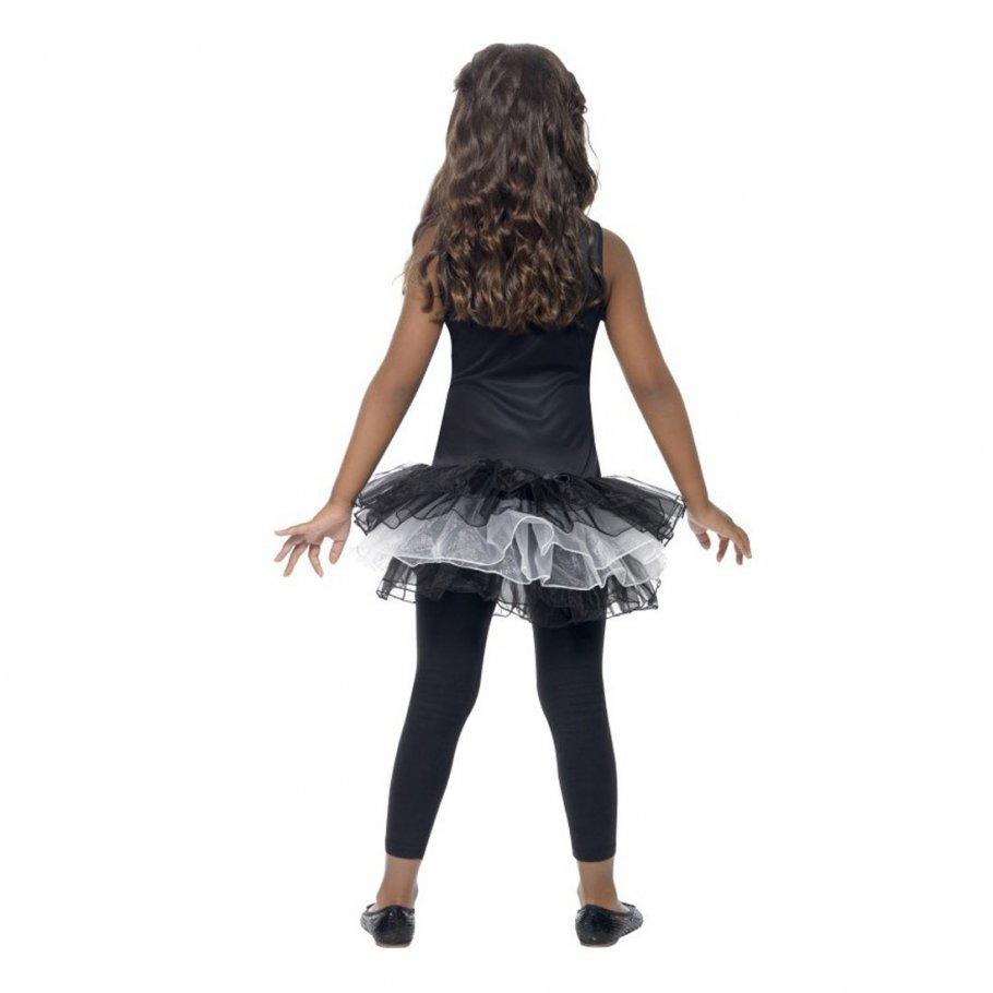 skelett kost m kinder skelettkost m gerippe kinderkost m tutu halloweenkost m halloween kleid. Black Bedroom Furniture Sets. Home Design Ideas
