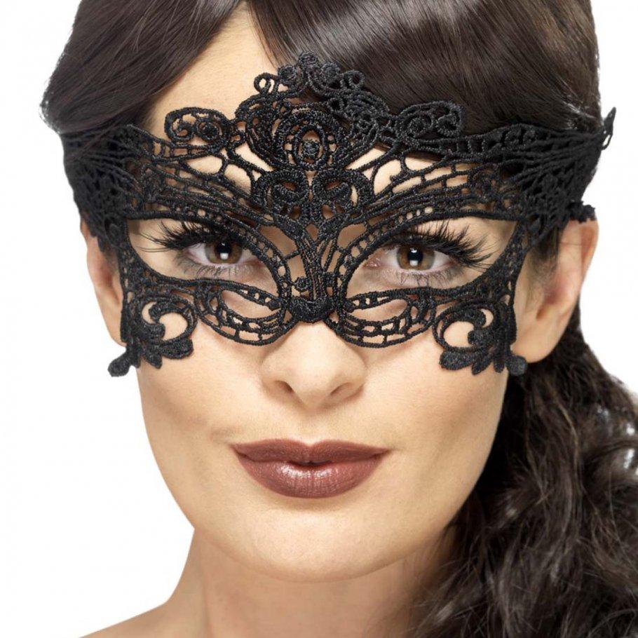 Spitzenmaske Gothic Venezianische Maske schwarz, 4,99