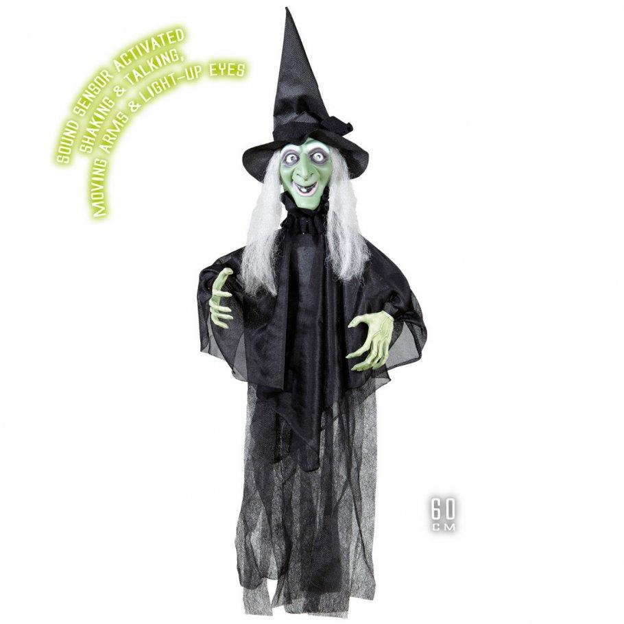 Sprechende Halloween Hexe Dekofigur H Ngedekoration Mit