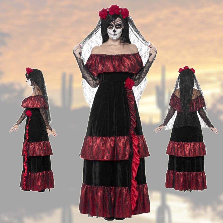 Sugar Skull Kostüm Gothic Brautkleid, 49,99 €