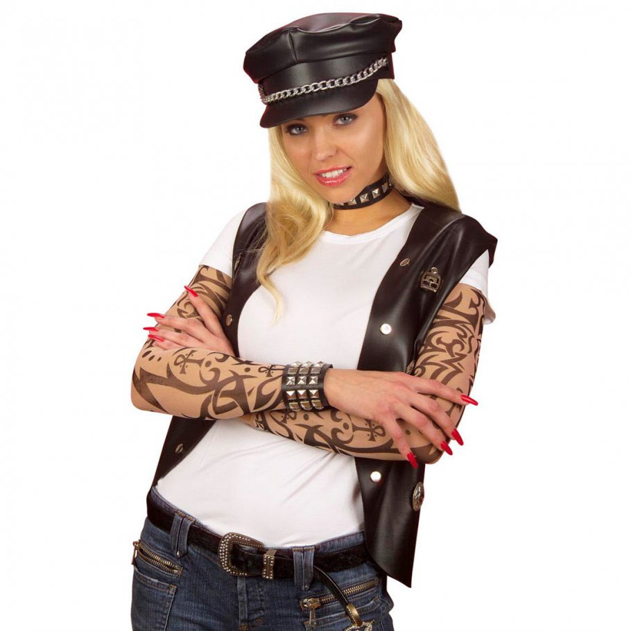 tattoo rmel skin sleeves armlinge partyartikel 3 99. Black Bedroom Furniture Sets. Home Design Ideas