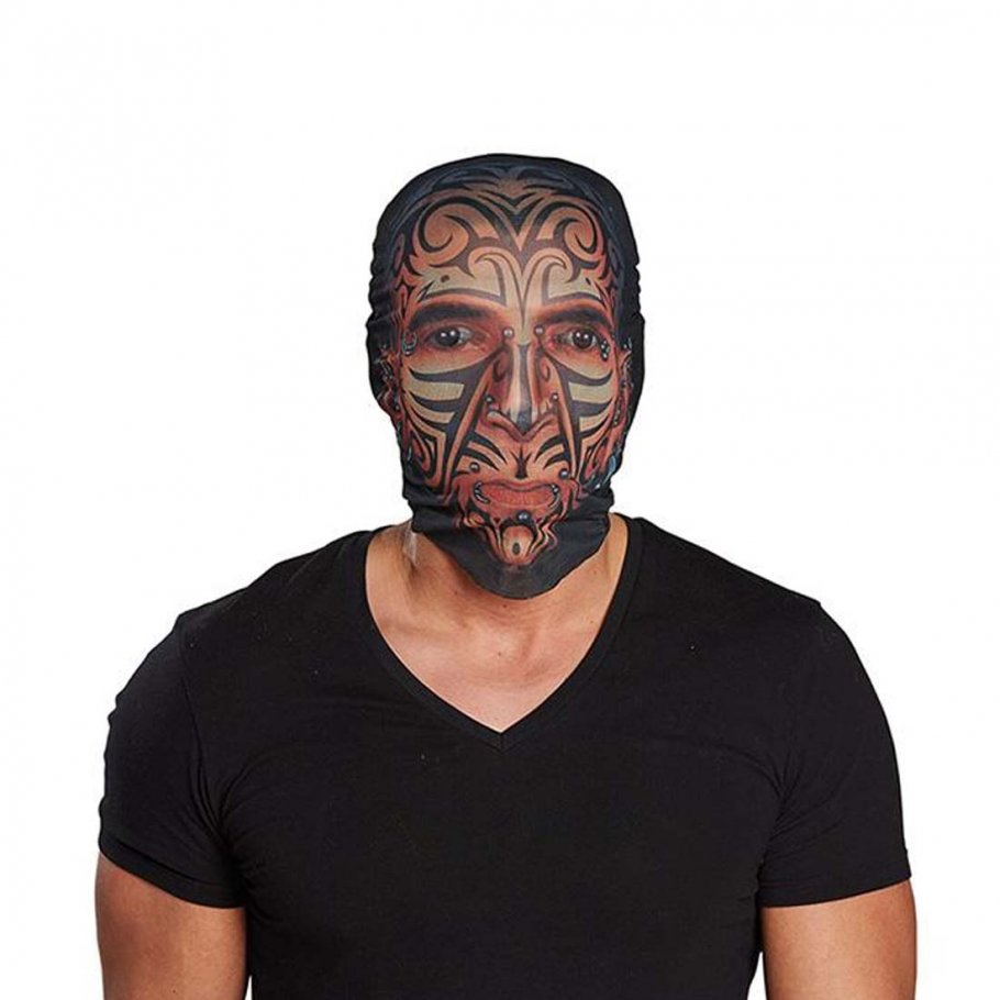 tattoo tribal maske strumpfmaske 3 99. Black Bedroom Furniture Sets. Home Design Ideas