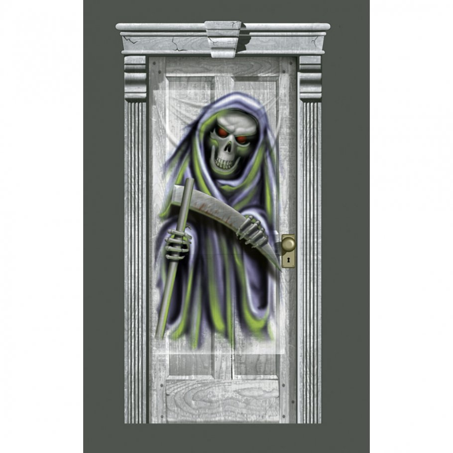 t r deko grim reaper folie 83 x 160 cm halloween. Black Bedroom Furniture Sets. Home Design Ideas