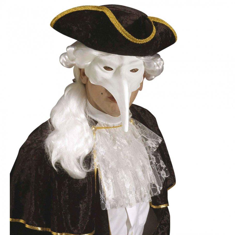 venezianische maske zum bemalen schnabelmaske zum dekorieren wei vogel faschingsmaske 3 99. Black Bedroom Furniture Sets. Home Design Ideas