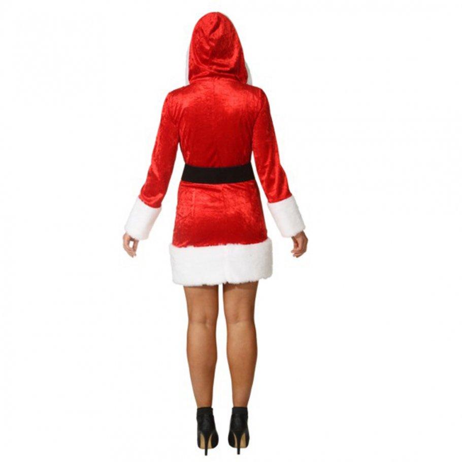 weihnachtsfrau kost m mit kapuze weihnachtskleid 34 99. Black Bedroom Furniture Sets. Home Design Ideas