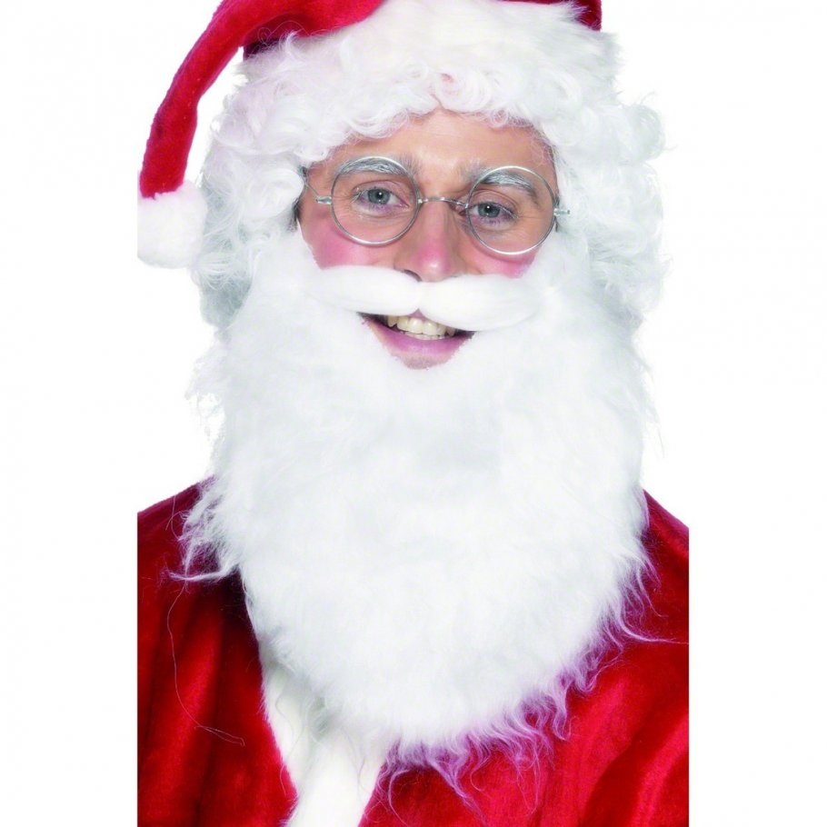 Weihnachtsmann Bart Weiß 30 Cm Weihnachtsmannbart