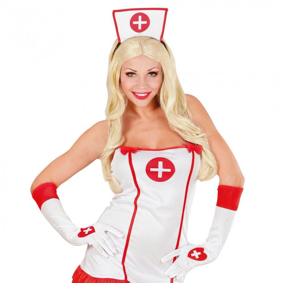 wei e damen handschuhe krankenschwester sexy damenhandschuhe lange fingerhandschuhe nurse. Black Bedroom Furniture Sets. Home Design Ideas