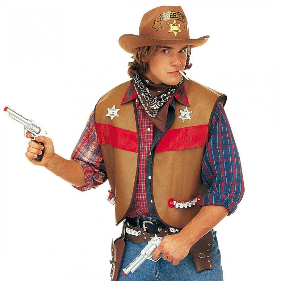 western weste cowboy kost m xl 54 56 sheriff uniform oberteil 14 99. Black Bedroom Furniture Sets. Home Design Ideas