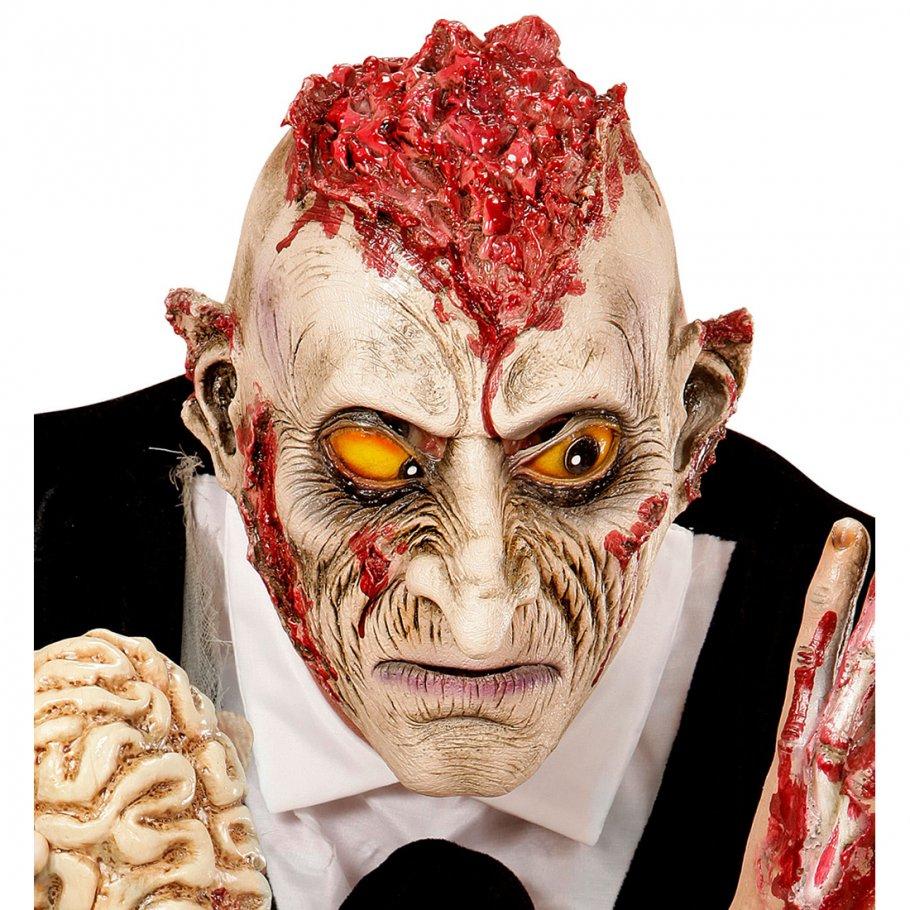 Zombie maske psycho monstermaske offenes gehirn horror zombiemaske halloween monster - Deguisement halloween qui fait peur ...