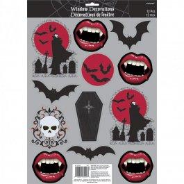 12 stk halloween fensterdeko sticker vampir aufkleber - Halloween fensterdeko ...