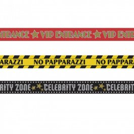 3 Stk. x 9 m Party Absperrband Hollywood Banner