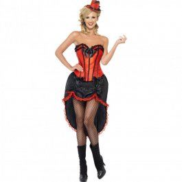 Burlesque Outfit Can Can Kostüm S 36/38