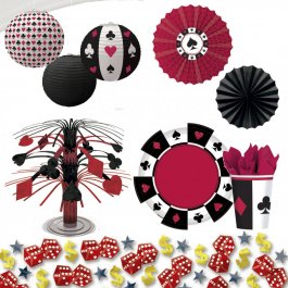 Casino Night Deko Partyzubehör Party Dekoration Accessoires Partyset