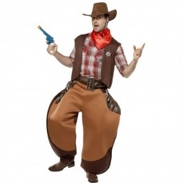 Cowboy Kostüm Big John Sheriff Uniform Braun