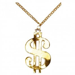 Dollar Kette gold Dollarkette Pimp Accessoir