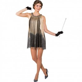 Flapper Dress Charleston Kleid mit Fransen