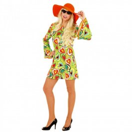 Hippie Kleid Love Flower Power Kostüm Hippi