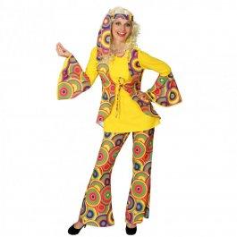 flower power kost m hippie kleid 70er jahre outfit buntes tunikakleid flowerpower hippiekost m. Black Bedroom Furniture Sets. Home Design Ideas