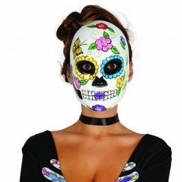 mexikanische totenmaske totenkopfmaske la catrina 12 95. Black Bedroom Furniture Sets. Home Design Ideas