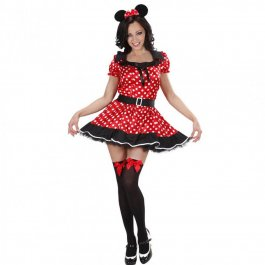 Minnie Mouse Kostüm Damen Mauskostüm
