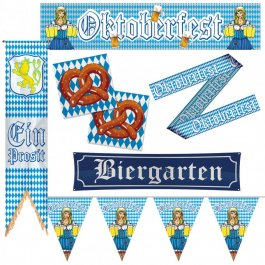 oktoberfest party deko set bayern partydeko. Black Bedroom Furniture Sets. Home Design Ideas