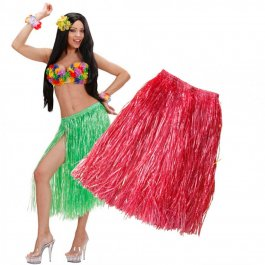 Rotes Hawaiikostüm Damen Rock Hawaiirock Hawaii 75cm