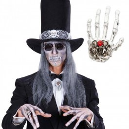 Skeletthand Ring Gothic Fingerring silber