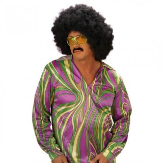 70er hemd disco kost m gr l lila gruen gelb 19 99. Black Bedroom Furniture Sets. Home Design Ideas