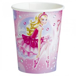Barbie Becher Pappbecher 8 Stk.