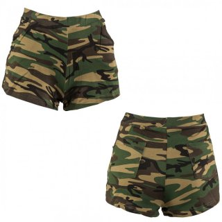 Camouflage Hot Pants Shorts tarnfarben S/M 34 ? 40