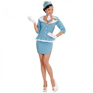 Retro Stewardess Kostüm Damen Uniform M 38/40