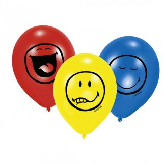 Smiley Luftballons Party Ballons 6 Stk.