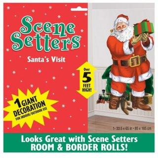 Weihnachten Folien Wanddeko Weihnachtsmann 85 X 165 Cm