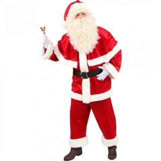 weihnachtsmann kost m luxus anzug weihnachtskost m l 52 54. Black Bedroom Furniture Sets. Home Design Ideas