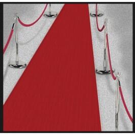 "Wanddeko /""Roter Teppich/"" 82 x 165 cm"