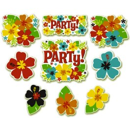 Hawaii Deko Schilder Sommer Party Cutouts 12 tlg.