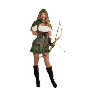 Sexy Robin Hood Kostum Damen Waldlauferin Verkleidung 36 99
