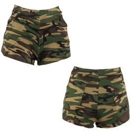 Camouflage Hot Pants Shorts tarnfarben S/M 34 – 40