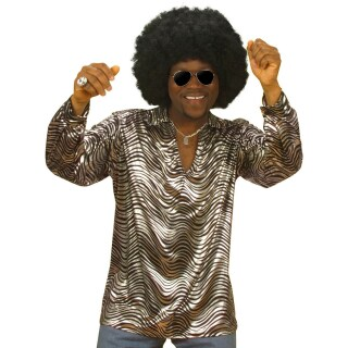 70 jahre disco hemd silber xl 70er jahre mode