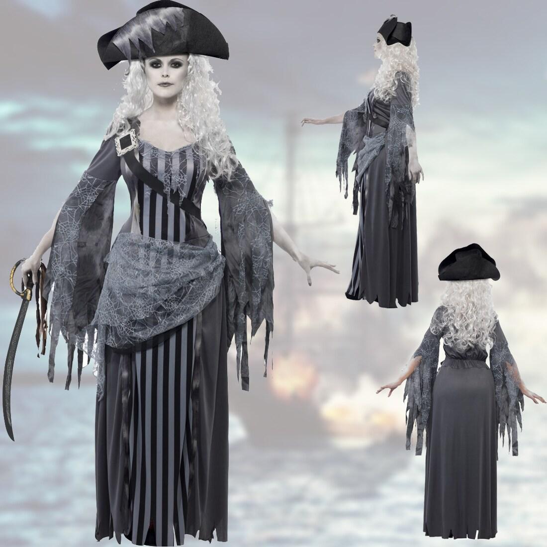 Zombie Geister Piratin Kostüm Damen Zombiekostüm Piratinkostüm Halloween M 40//42