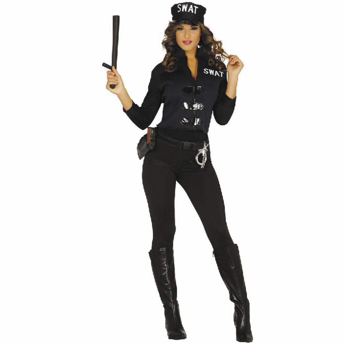 sexy swat kost m damen damenkost m agentin s m einheitsgr e 24 99. Black Bedroom Furniture Sets. Home Design Ideas