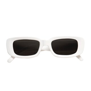 White-Look Party Brille in weiss Sonnenbrille