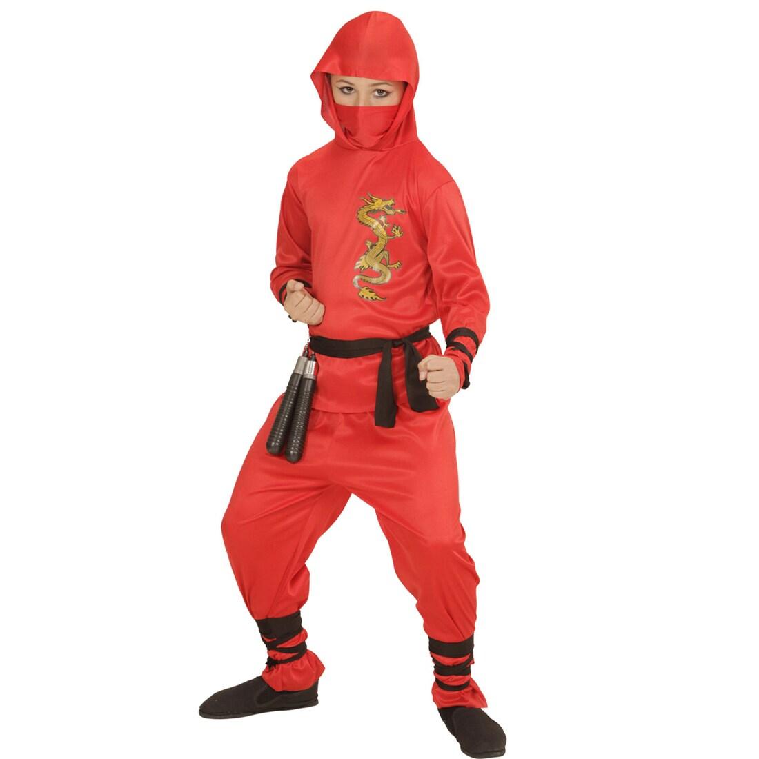 rotes ninja kost m kind ninjakost m samurai 14 99. Black Bedroom Furniture Sets. Home Design Ideas