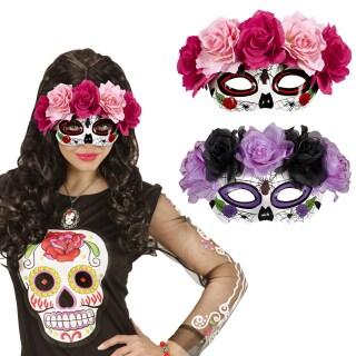 Totenkopf Handschuhe Sugar Skull Damenhandschuhe Gothic La Catrina zum Kostüm