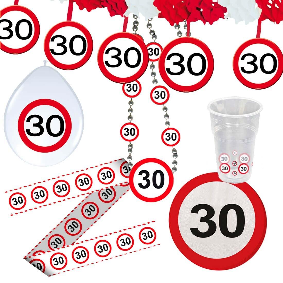 30 Geburtstag Verkehrsschild Party Deko Erwachsene
