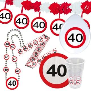 40 Geburtstag Verkehrsschild Party Deko Erwachsene Geburtstagsdeko